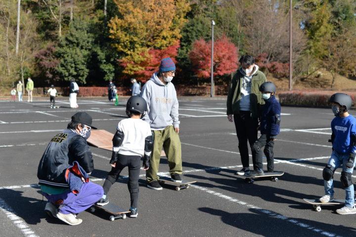 あいかわ公園「初心者スケートボード教室」開催しました!